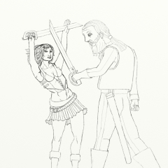 Berry The Pirate Girl - Sword Fight WIP016