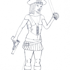 Berry The Pirate Girl WIP03 bwda