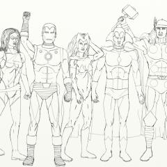 Classic Avengers WIP032