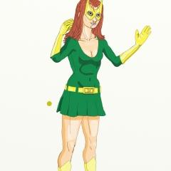 Marvel Girl Standing 022 Color