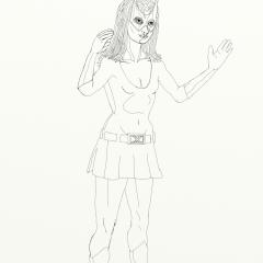 Marvel Girl Standing 022 Digital Ink