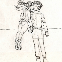 Skygirl and The Soldier - Lovers 01 WIP002