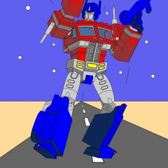Optimus Prime - Onwards into battle my Autobots Color WIP008 - W1131H1600