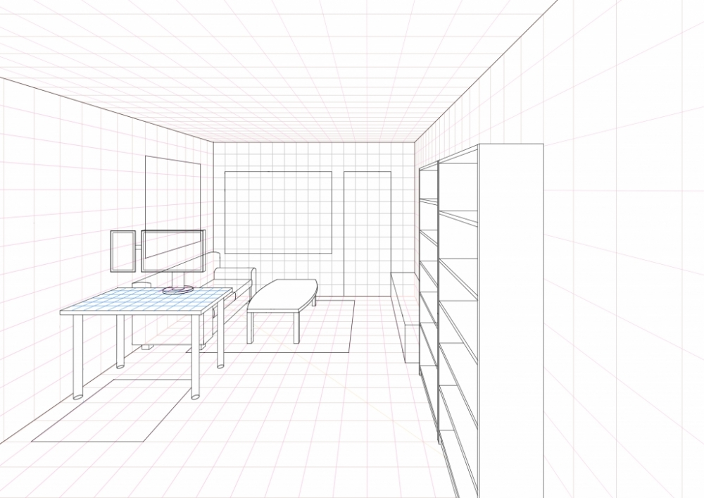 Perspective grid archives worlds on paper for Room design template grid