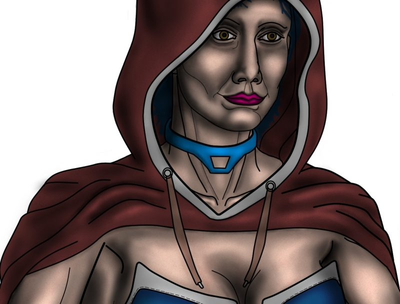 A Sorceress Color WIP0011 close up