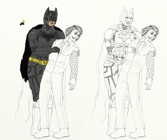 Dark Knight Batman and The Joker - For now a dead project