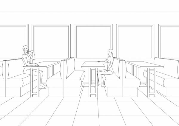 Diner scene WIP005