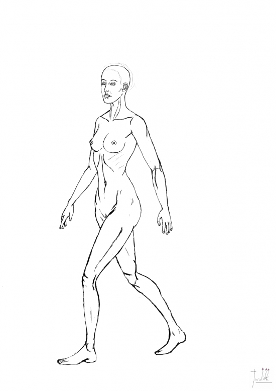 Girl walking 01 WIP006 - W1273H1800