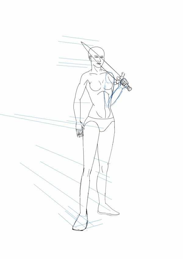 Girl with sword WIP003