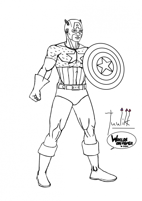 Marvel - Captain America Standing WIP009 - W1131H1600