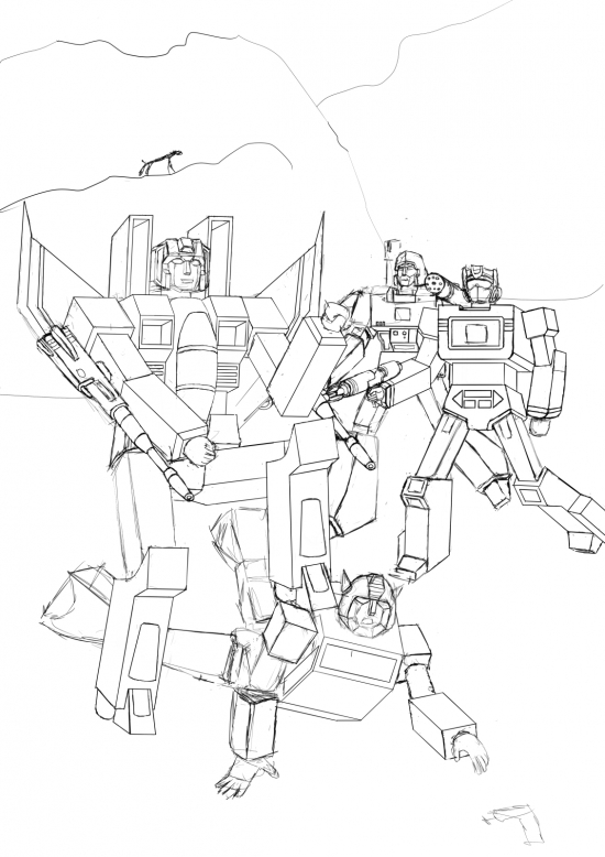 Starscream VS Bumblebee WIP019 - W1131H1600