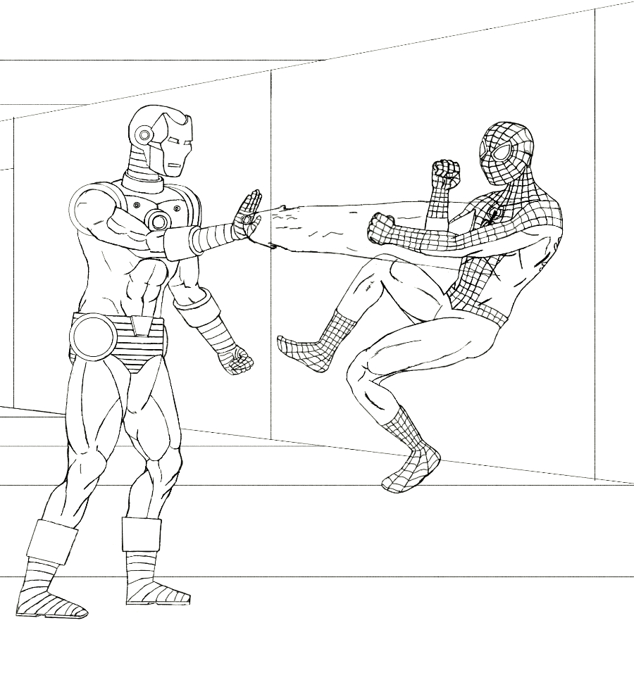 Ironman Line Drawings