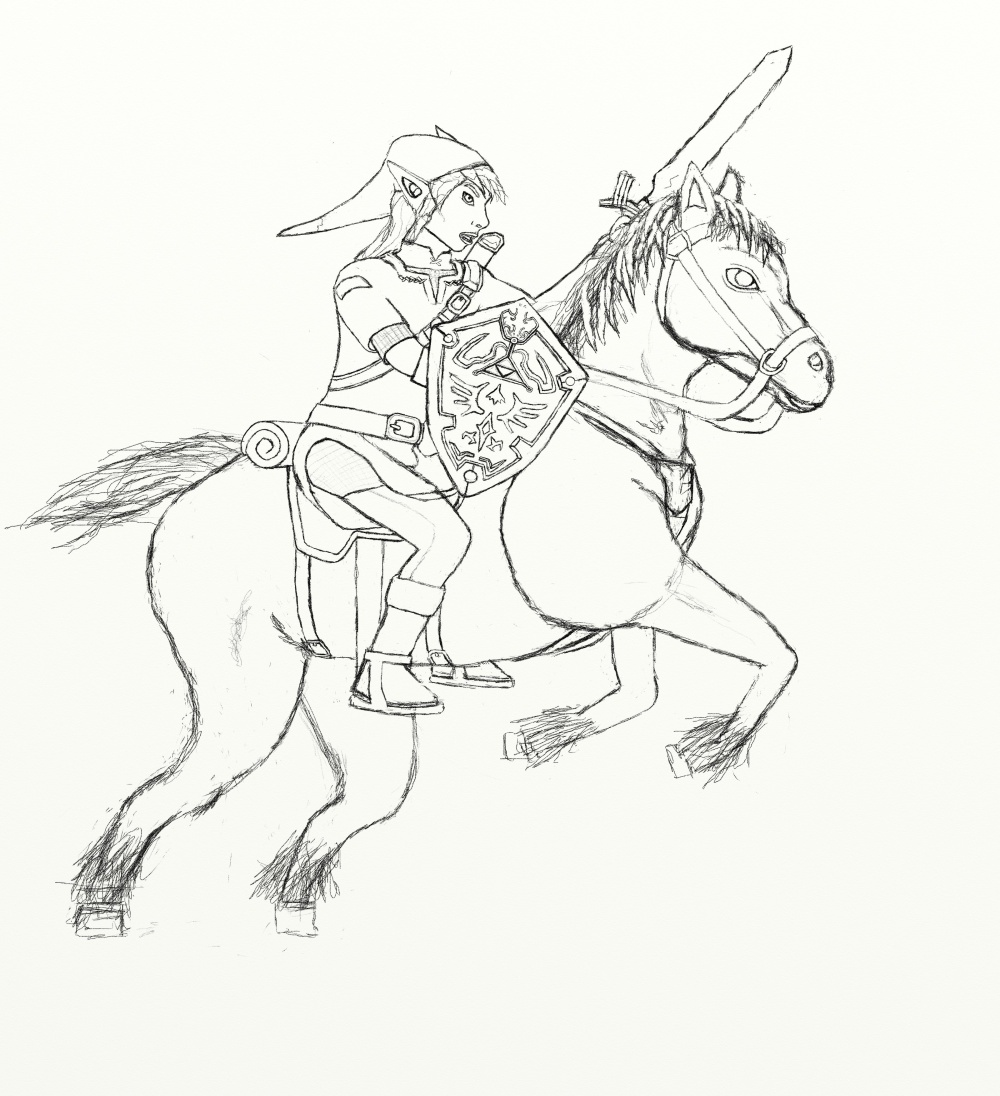 Free Wolf Link Zelda Coloring Pages