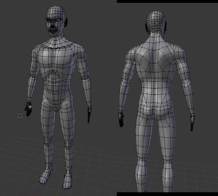 Male Character Modeling In Blender : New standard d body worlds on paper