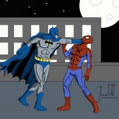 Batman VS Spider-Man color
