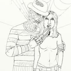 Freddy Krueger kills WIP017
