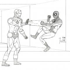 Iron Man VS Spider-Man WIP019 Aplus2