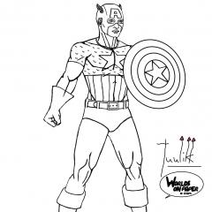 Marvel - Captain America Standing WIP009 - W1131H1600