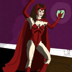 Scarlet Witch WIP 021 - Color pdn