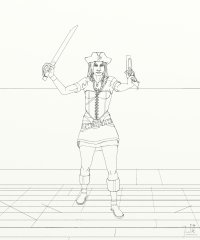 Berry The Pirate Girl - Ready to fight again WIP017 - W1333H1600