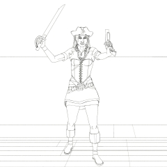 Berry The Pirate Girl - Ready to fight again WIP016