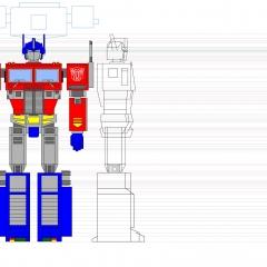 Optimus Prime MS001 Color WIP004 - W2000H1414