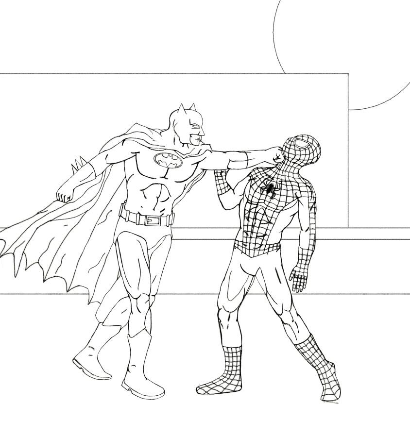 batman vs spider