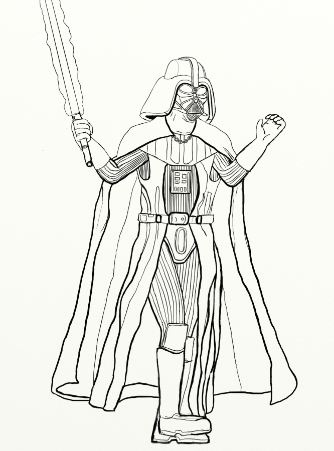 darth vader coloring pages - a new try on darth vader worlds on paper