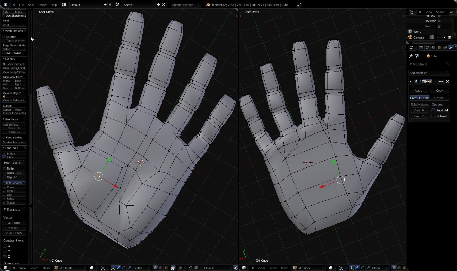 Blender 3d Hand ~ Software archives page of worlds on paper