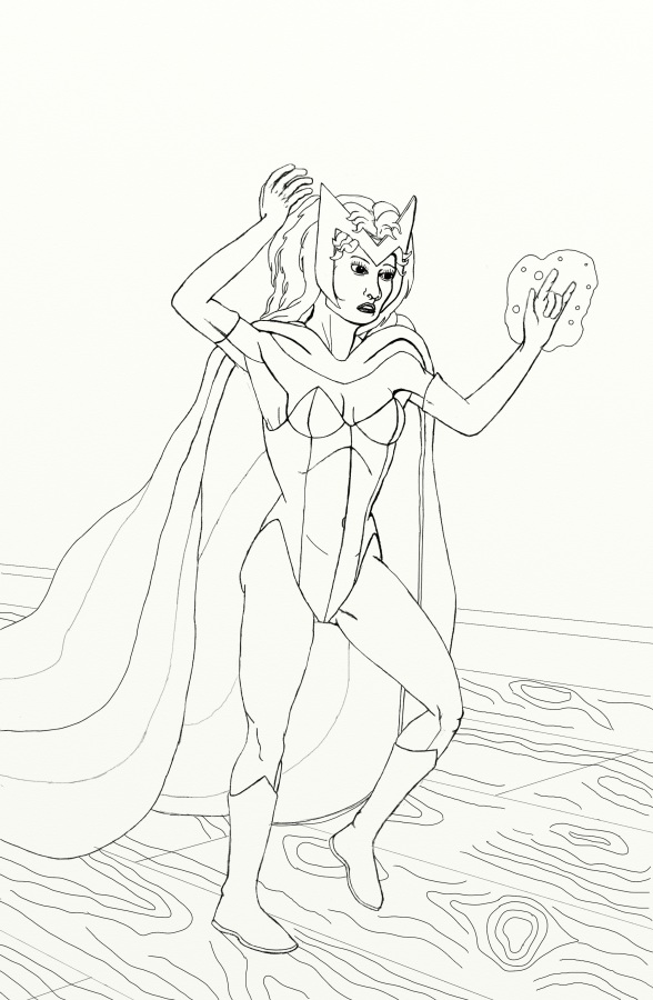 The Avengers Project Scarlet Witch Wip 01 Worlds On Paper